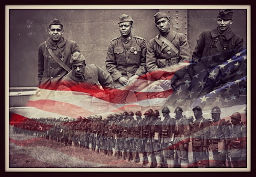 harlem-hellfighters-with flag