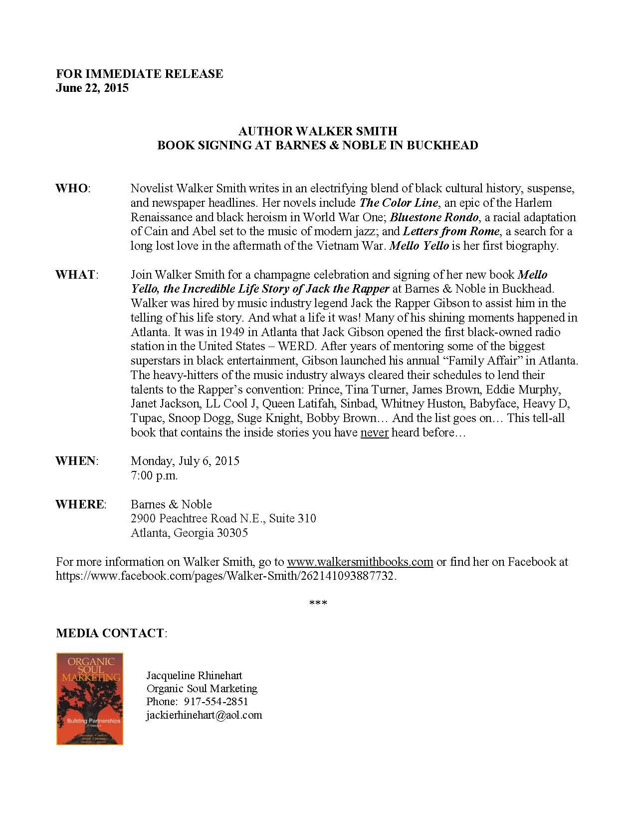 B&N Buckhead Press Release